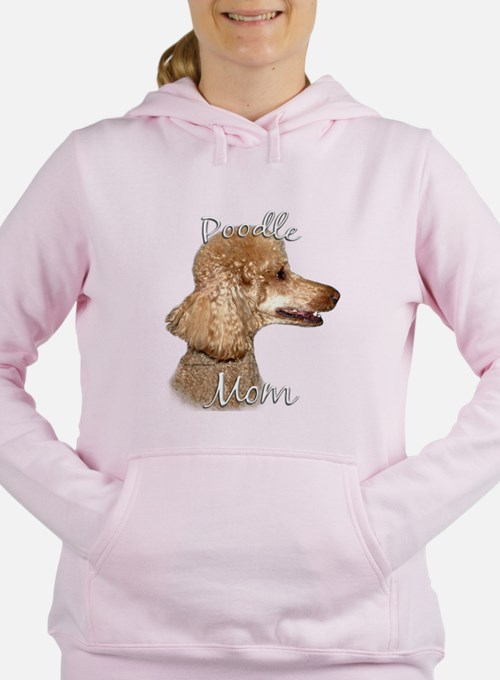 Cute Apricot poodle lover Women's Hooded Sweatshirt