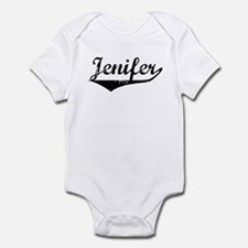 Jenifer Vintage (Black) Infant Bodysuit