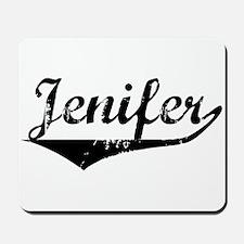 Jenifer Vintage (Black) Mousepad