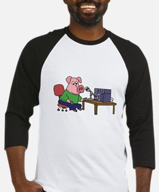 Pig using HAM radio Baseball Jersey