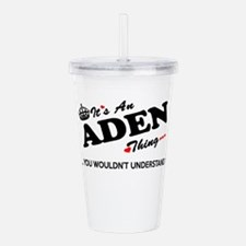 Unique Aden Acrylic Double-wall Tumbler