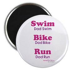 "Triathlon Dad 2.25"" Magnet (10 pack)"