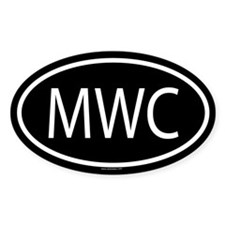 MWC Oval Decal