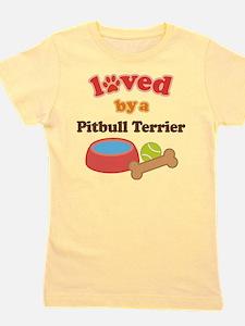 Cute Pitbull for kids Girl's Tee