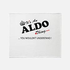 Cute Aldo Throw Blanket