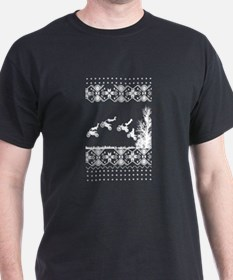 Motorcycle Ugly Christmas Pattern T-Shirt