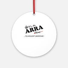 Unique Arra Round Ornament