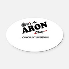 Funny Aron Oval Car Magnet