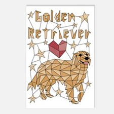 Cool Goldens retriever Postcards (Package of 8)