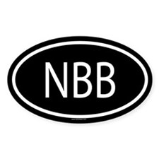 NBB Oval Decal