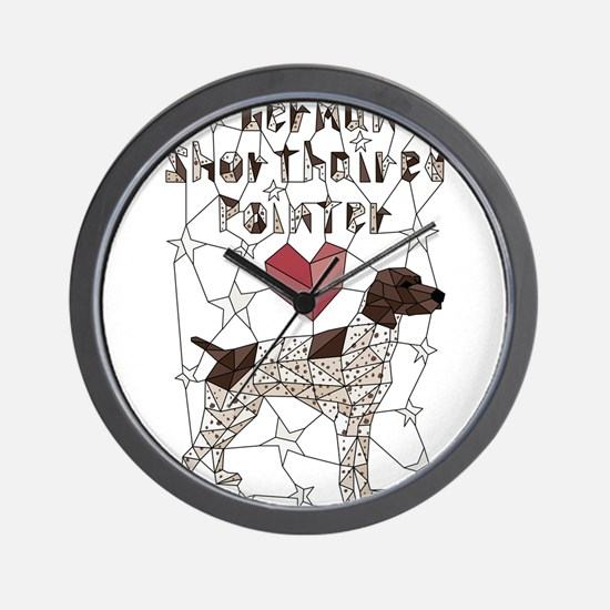 Geometric German Shorthaired Pointer Wall Clock