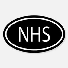 NHS Oval Decal