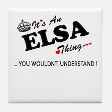 Unique Elsa Tile Coaster