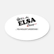 Unique Elsa Oval Car Magnet
