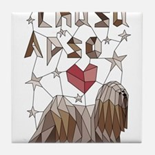 Geometric Lhasa Apso Tile Coaster