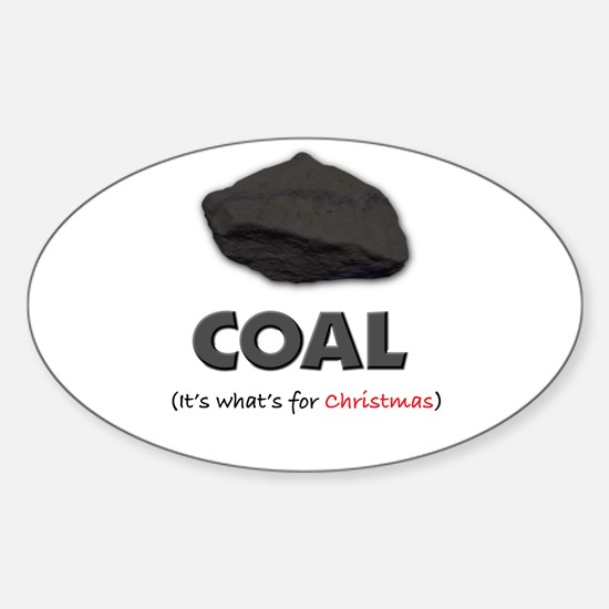 coal Oval Decal