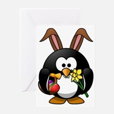 Happy Easter Penguin Greeting Cards