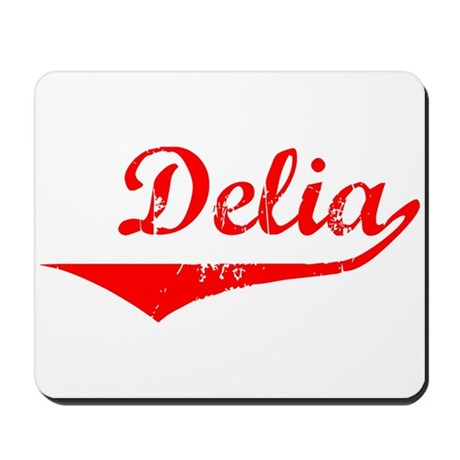 Delia Vintage (Red) Mousepad