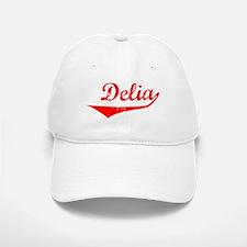 Delia Vintage (Red) Baseball Baseball Cap