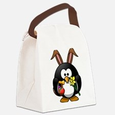 Happy Easter Penguin Canvas Lunch Bag