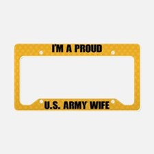 U.S. Army Wife License Plate Holder