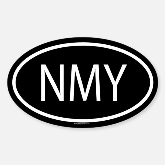 NMY Oval Decal