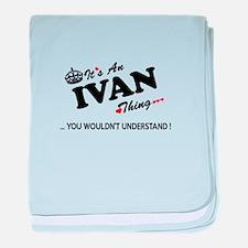 Unique Ivan baby blanket