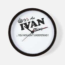 Cute Ivan Wall Clock