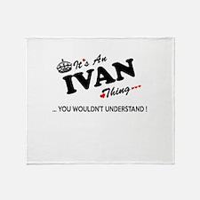 Cute Ivan Throw Blanket