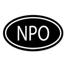 NPO Oval Decal