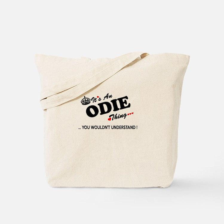 Cute Odie Tote Bag