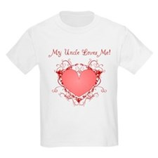 My Uncle Loves Me Heart T-Shirt