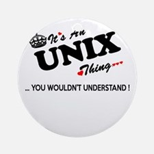 Cute Unix Round Ornament