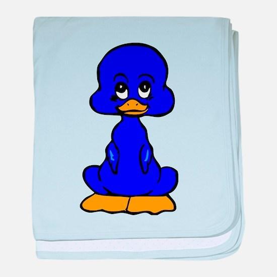 Blue Baby Duck baby blanket
