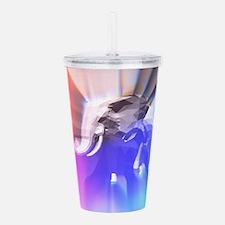 Digital Rainbow Elepha Acrylic Double-wall Tumbler