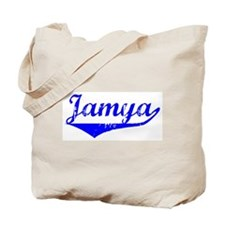 Jamya Vintage (Blue) Tote Bag