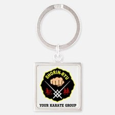 SHORIN RYU PERSONALIZED Square Keychain