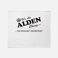 Cute Alden Throw Blanket