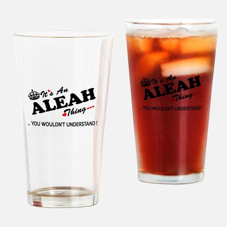 Cute Aleah Drinking Glass