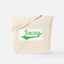 Jacey Vintage (Green) Tote Bag
