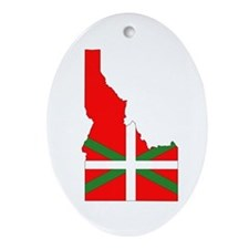 Idaho Basque Oval Ornament