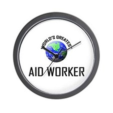 World's Greatest AID WORKER Wall Clock