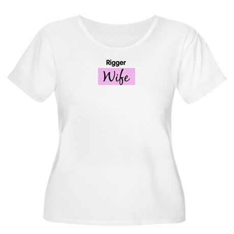 Rigger Wife Women's Plus Size Scoop Neck T-Shirt