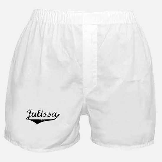 Julissa Vintage (Black) Boxer Shorts