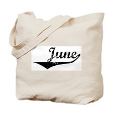 June Vintage (Black) Tote Bag