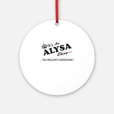 Cute Alysa Round Ornament