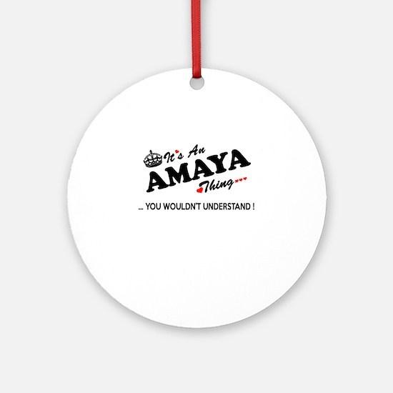 Cute Amaya Round Ornament