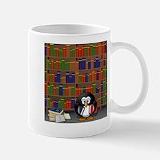 Studious Penguin in Library Mugs
