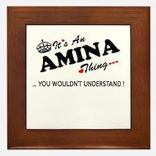 Funny Amina Framed Tile