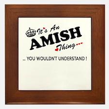 Unique Amish Framed Tile